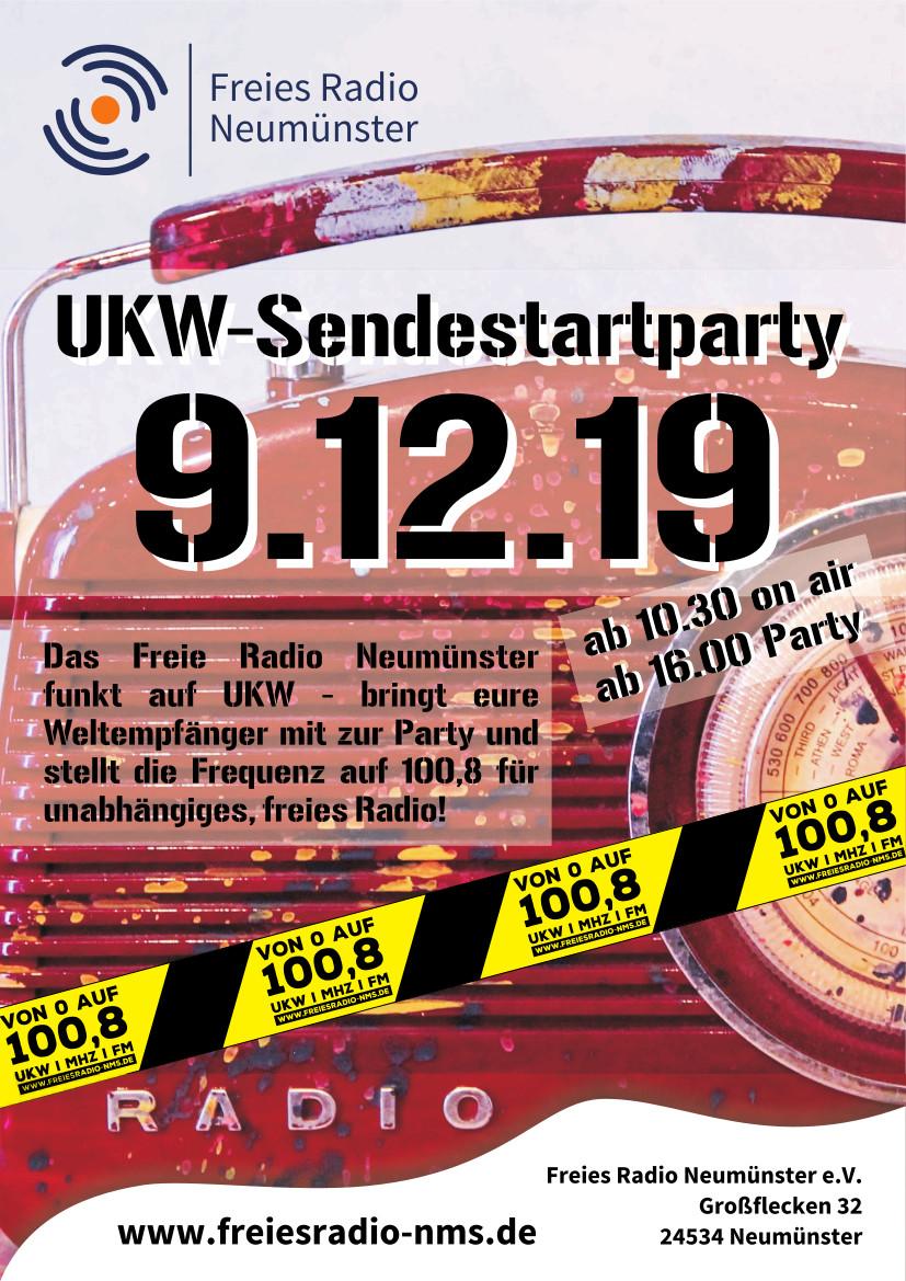 Plakat DIN A4 Sendestartparty